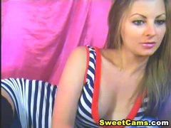 Nice-looking Blond Babe Striptease HD