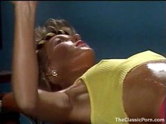Fucking an 80s gym cutie in retro video