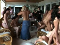 Sexy summer party with an fuckfest of engulfing and fucking