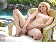 Sexy Tatum Woods loves toying her juicy moist slot