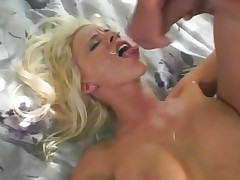 Raunchy Kelly Madison gets splattered with hot cum