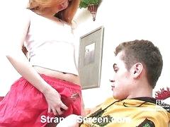 Sylvia&Tommy nasty strapon movie