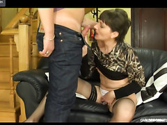 Dressed-up mother i'd like to fuck widens her legs seducing a horny guy into mghty dicking