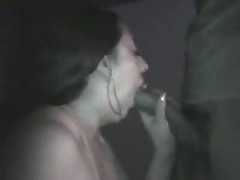 Dilettante couple taping their sex on camera in a pure black room. She sucks, licks, jerks and squeezes her husband's cock as she awaits her sweet and sticky cumshot