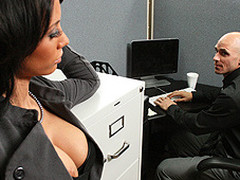 Johnny is trying to concentrate at work, but this guy can't assist but be distracted by his co-worker, Mya's big hawt bra buddies and the provocative way that babe dresses. Disappointed by his inability to pay attention at the office, this chab complaints to his supervisors. Angry and hurt, Mya uses her luscious big titties to persuade Johnny to take act that's not so legal...