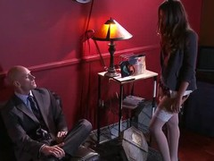 Allie Haze has been on the hunt for a serial masturbator. This guy has been leaving huge loads of cum everywhere this guy goes. This Babe can merely imagine how large his weenie must be to produce so much semen. That Babe'll risk her job, her partners trust, and her safety just to find this lunatic. But what will this babe do when that babe lastly tracks him down?
