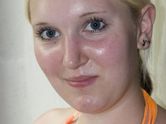 Golden-Haired slut sucks dick like this babe?s hungry