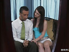Lily Carter is extremly beautifull and horny .  Just look how she is sucking his big cock and while sucking she seems like she would need a big hard cock inside her tight pussy. Do you think she going to get that and maybe some spunk on her juicy lips?
