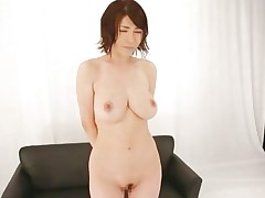 Akane is a natural beauty, she has a pair of superb breasts, sexy legs and a cute face that demands for a few loads of jizz on it. She is in front of an audience and needs to give her best at showing these guys and us what a worthless whore she is. Akane spreads her legs wide and shows her pussy before rubbing it.