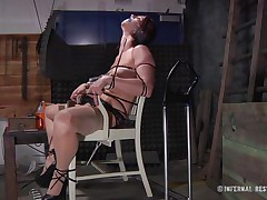 This is art, and as u can see in the 1st scene we have a brown haired slut tied on a char and punished with electric shocks on her pussy. Then we receive to watch the same floozy and one more one tied in position 69 on the bed. If it excites u then why not watch it, it surely merits your time and attention!