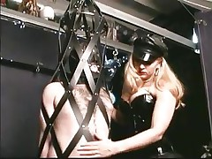 As soon as he steps into the dungeon the guy barely waits for his mistress. Many guys love being dominated by hot sluts and some travel a long way to receive such a treatment. In the real world we put value on honor and pride, but these guys give it all away for some good ass spanking and cock torture, check it out