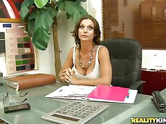 Willow is lonely milf and this babe works hard in her office. Looks like this babe has a little vacancy for fun in her life. And this horny guy takes the chance of it. He starts flirting with her and trying to tempt her into a hardcore. She looks glamorous convinced and there this babe is lying there and touching herself!