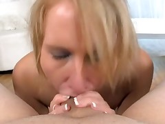 Hot chick is glamorous dude with naughty oral job