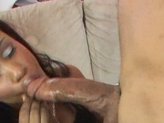 Kiana Jayde gets full load in her face