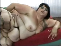 Chubby fuck in stockings screwed in the gazoo