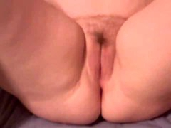 Hot toy sex of hairy fat pussy