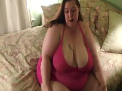 Very large honeys strips down to her panyhose and then shows large ass