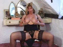 British milf in a fun tease of her hot body