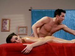 Sassy Charley Pursue gets a sexy rub down from a hunk