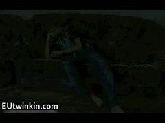 Aleksey jerking off his nice twink penis