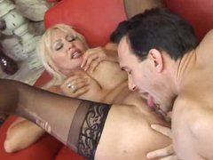 Milf climbs on top of the ramrod for a ride