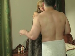 Cheating european boyfriend gets breasty with panties in his pocket