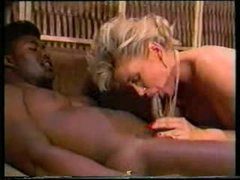 2 black lads fuck white slut in classic video