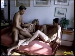 Hairy box babes fucked in a foursome